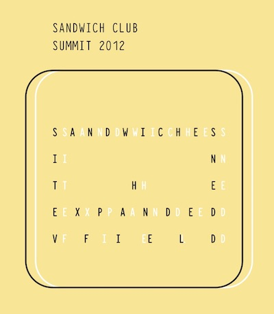 1st Annual Sandwich Club Summit: Sandwiches in the Expanded Field