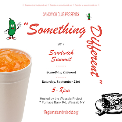 6th Annual Sandwich Club Summit: Something Different
